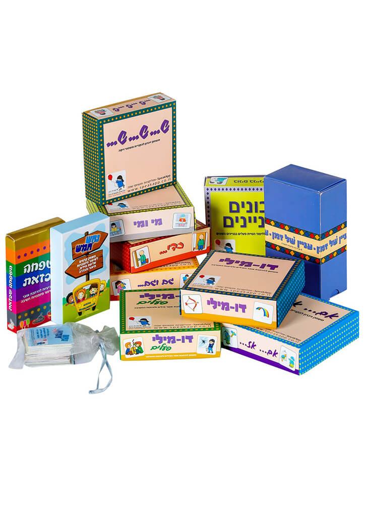 מילים - משחקים שפה - משחקי קופסה לכל המשפחה